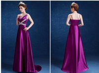 Wholesale Tailor Made Evening Gowns - Tailor Made Dresses Spaghetti Straps Satin V Neck Backless Evening Dresses Beads Crystals Prom Dresses Party Gowns