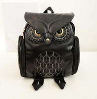 Wholesale 3d Bags For Sale - Hot sale Designer Fashion Women 3D Printing OWL Backpack PU Leather Owl Animal Student Shoulder School Bags For Teenagers Girls Bag