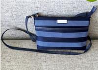 Wholesale Women Style Portable - Free shipping-new style women good quality light canvas plaid zipper portable cross body bags messenger bag