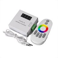 control remoto de color led al por mayor-Colorido Led Music Remote Controller RF para el sueño mágico a todo color Led Strip Light DC12V 18A + control táctil inalámbrico