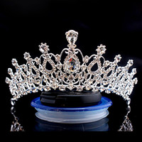 Wholesale crown rhinestones - Bling Beaded Crystals Wedding Crowns 2017 Bridal Diamond Jewelry Rhinestone Headband Hair Crown Accessories Party Tiara Cheap CPA790