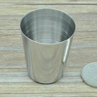 spirit cups - 0 zb Stainless Steel White Spirit Cup Portable Mugs Durable Wineglass Drinking Vessel Reuse Beer Mug Small Cups New
