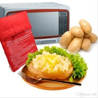Wholesale DHL Free Potato Express Microwave Cooker Cooking Tools Bakeware Package Bag Pocket Kitchen Steam Gadget Rushed Cozinha Washable bag