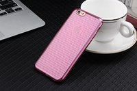 Wholesale Diamond Pattern Plastic - Soft Electroplate Sparkling Bling Diamond Grid Pattern Thin TPU Case Cover for iPhone 5 5s 6 Plus 6s Plus free DHL