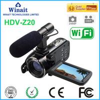 kamera hdv großhandel-Großhandel - Auf einen Blick! Professionelle digitale Vedio-Kamera HDV-Z20 WIFI-Fernbedienung 3,0
