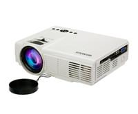 pequenos projetores usb venda por atacado-Atacado-Wimius T3 1200 Lumens Full HD LED projetor Protable Mini Pequeno Home Theater com Controle Remoto 800 * 480 AV / VGA / USB / SD / HDMI