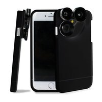 Wholesale Telephoto Camera Case - Newest 4-in-1 Wide Angle Macro Fisheye Telephoto Camera Lens Case for iPhone 6 7 6s 7 Plus