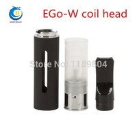 Wholesale Ego Tank F1 - Wholesale- electronic cigarettes EGo W coil head ego w F1 atomizer core pen type atomizing core atomizer tank egow F1 cartomizer 5pcs