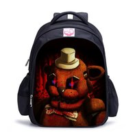 Mochila Esencial Baratos-Five Nights At Freddys Mochilas FNAF Nylon Children School Bags Chica Boys Girls Kindergarten Bolsa de regreso a la escuela Essential