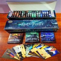 Wholesale Puzzle Card Games - 2017 new Harry Potter game 408 pcs = 24 bags = 1 set of children's adult cartoon puzzle English toy card game A1.2