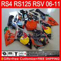 Wholesale fairing rsv resale online - Body For Aprilia RS4 RSV125 RS125 RS125R RS Orange black NO21 RSV RS Fairing