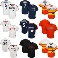 Wholesale Houston Astros Throwback Jersey Cooperstown Collection Men s Jeff Bagwell Craig Biggio Nolan Ryan Baseball Jerseys Mix Ordser