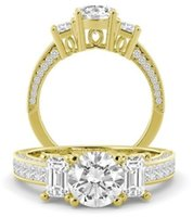 Wholesale Round Diamond Engagement Rings Gia - 2.70 tcw Round Cut GIA Certified Natural Diamond Engagement Ring 18k Yellow Gold