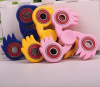 Wholesale Pink Whips - Fingertip Gyro Handspin Gyroscope Fingers Spiral Creative Stress Reliever Whipping Top Toys Hobbies Classic Toys Spinning Top