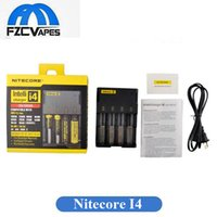 Wholesale Nitecore Aa - Original Nitecore I4 Charger Universal Charger for 18650 16340 26650 10440 AA AAA 14500 Battery Nitecore Battery Charger
