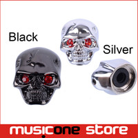Wholesale Electric Guitars Control Knobs - Cool Skull Head Tone Volume Control Knobs Buttons For Electric Guitar Parts Black gold Chrome