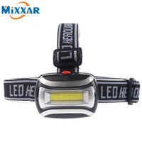 Wholesale Headlamp Hiking - High Quality LED Headlight Mini Plastic 600Lm Headlamp Head Light Lamp Flashlight 3aaa Torch For Camping Hiking Fishing