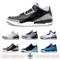 Wholesale Mix Shoe Order - Retro 3 White Cement GS Black Cement Wolf Grey Metallic Wholesale Men Basketball Shoes Mixed Order accepted euro 36-47 free shipping