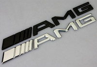 Car-styling 10pcs / lot Silver Chrome Black 3M AMG Decal Sticker Logo Emblem Car Badges para Mercedes CL GL SL ML A B C E S classe Car st