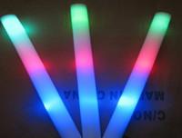 Wholesale Ems Toys Kids - 20pcs LED Colorful rods led foam stick flashing foam stick, light cheering glow foam stick concert Light sticks EMS