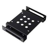 """Wholesale hdd mounts - Wholesale- Aluminum 2.5 """" & 3.5 """" SATA HDD SSD to 5.25 bracket adapter 2.5 to 5.25 or 3.5 to 5.25 hard drive bay converter mounting kit"""