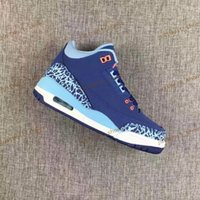 Wholesale Eva Caps - Free Shipping Discount Air Retro 3 III 2017 GS Purple Dust Blue Cap Woman Basketball Shoes High Quality Wholesale Size 5.5 8.5 Sneaker