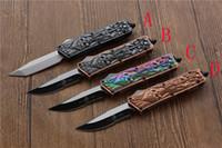 outils cnc livraison gratuite achat en gros de-Couteau miker KG de haute qualité, lame: 440C manche: alliage de zinc (CNC) outils de survie en camping en plein air