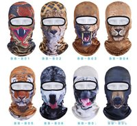 Chapeau Uv Animal Pas Cher-Hot Sale 2016 3D Cap Chien Animal Sports de plein air Vélo Cyclisme masques de moto Ski Hood chapeau Voil Balaclava UV masque complet