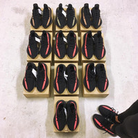 Wholesale Light Up Box - [With Box Socks] Season 2 Boost 350 V2 Black Red Copper Green Beluga Orange Grey Stripe Sply 350 Sneakers Running Shoes
