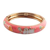 ingrosso braccialetto unico dell'anello-bracciale di design animali cartoon per bambini piccoli Braccialetti carota di coniglio accessori unici carini per bambini K002D