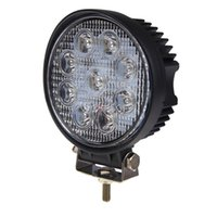 Wholesale Led Offroad Spot 27w - 27W 12V 24V LED Work Light Spot Flood Round LED Offroad Light Lamp Worklight for Off road Motorcycle Car Truck Hot New