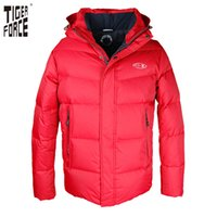 Wholesale duck collection - Wholesale- TIGER FORCE 2017 New Collection Men Down Jacket 70% White Duck Down Winter Down Coat Parka European Size Free Shipping D-585A