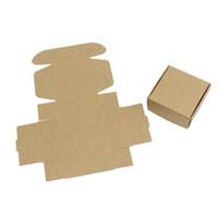 kahverengi kağıt düğün toptan satış-Kraft Kağıt Paket Kutusu El Yapımı Sabun Kahverengi Karton Kutuları Düğün Şeker Mini Konteyner Için Basit 0 35nx B R