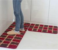 bodenbelag rabatt großhandel-Online Küche Weich Teppiche Rabatt Bodenbelag Matte Matting Rutschfeste Schützen Abdeckung Teppich Fußmatte Rutschfeste Fußtuchmatte Freies Verschiffen