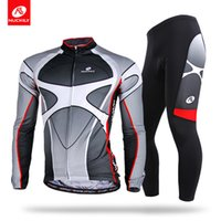 Wholesale Cool Road Bike Clothing - NUCKILY Men's Spring Autumn breathable cool design road bike long sleeve cycling clothing set
