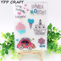 Vente en gros - YPP CRAFT Niceday Transparent Clear Silicone Stamps pour DIY Scrapbooking / Card Making / Kids Christmas Fun Decoration Supplies