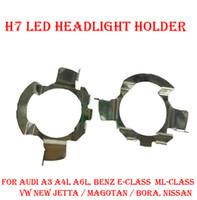 Wholesale Led Magotan - 2PCS H7 LED Headlight Conversion Kit Bulb Base Holder Adapter Retainer Socket Clip For Audi A3 A4L A6L Benz E ML Class VW Jetta Magotan Bora
