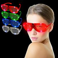 konser gözlükleri toptan satış-Led Işık Gözlük Deklanşör Şekli Soğuk Flaş Popüler Parti Konser Şekeri Cheer Dans Sahne Aydınlık Gözlük Oyuncak 3 8rr F