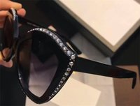 Wholesale Cat Fine - New fashion women sunglasses G 0118 mosaic luxury fine small diamond design sunglasses top quality popular trend summer style with box