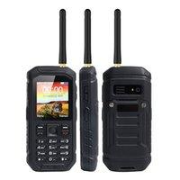 Wholesale Uhf Phone - 5pcs DHL IP68 Waterproof UHF Walkie Talkie Rugged Phone Function 2.4 inch 2500mAh Big Battery 2G GSM Dual Sim X6