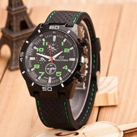 Wholesale Racing Sports Watches For Men - 200pcs Fashion GT F1 Racing car silicone watch unisex men women quartz amry sport jelly Military outdoor silicone wrist watches for men