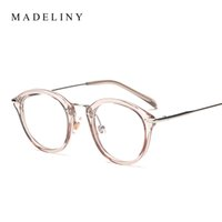 Wholesale Eyeglasses Picture Frame - Wholesale- Classic Fashion Women Picture frame Brand Designer Vintage Round Eyeglasses Frame Cat Eye Style Clear Lens Glasses MA199
