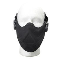 Wholesale Face Guarding - Outdoor Hunting Protective Half Face Mask Tactical Cycling Breathable Face Shield Military Detective Safety Lightweight Guard
