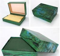 dateikästen großhandel-Fabriklieferant Luxus Uhrenbox Papiere Karteikarte Grüne Geschenkboxen Präsident 116610 116660 116520 116710 116613 Uhren