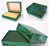 Wholesale wood gifts online - Factory Supplier Luxury Watch Box Papers File Card Green Gift Boxes Use President Watches