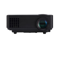 Wholesale vga media - Wholesale-LED Pico Projector with 50000 hours lamp Life, Mini home projector HDMI usb AV TV VGA and Media Player