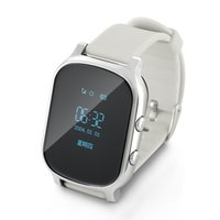 Wholesale Gprs Watches - Children Kids Wristwatch T58 Smart Phone Watch GSM GPRS GPS Locator Tracker Anti-Lost Smartwatch Child Guard for iOS Android