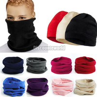 Wholesale Polar Fleece Scarf Hat - Hot New 2017 Functional Winter Unisex Women Men 3 in 1 Warm Polar Fleece Snood Hat Neck Warmer Wear Scarf Beanie Z1