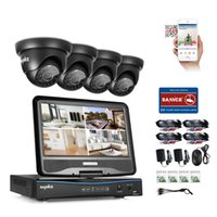 """Wholesale Dome Camera Remote Control - SANNCE® CCTV Security System 10.1"""" LCD 8CH HD 720P 1500TVL In Outdoor Support AHD CVI TVI Analog Cameras with Night Vision Remote Control"""