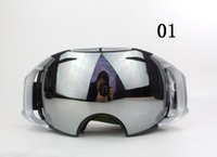 Wholesale Aluminum Ski - Fashion AIRBRAKES ski goggles Mountaineering goggles Super toughness Double spherical surface anti-fog goggles 9 Colors Unisex Sunglasses